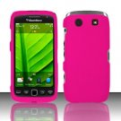 Hard Rubber Feel Plastic Case for Blackberry Torch 9850/9860 - Pink