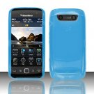 TPU Crystal Gel Case for Blackberry Torch 9850/9860 - Blue