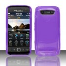 TPU Crystal Gel Case for Blackberry Torch 9850/9860 - Purple