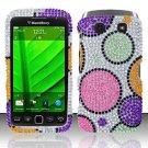 Hard Rhinestone Design Case for Blackberry Torch 9850/9860 - Rainbow Dots