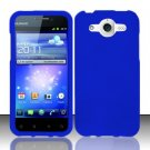 Hard Rubber Feel Plastic Case for Huawei Mercury M886 (Cricket) - Blue