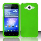Hard Rubber Feel Plastic Case for Huawei Mercury M886 (Cricket) - Green