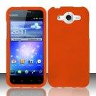 Hard Rubber Feel Plastic Case for Huawei Mercury M886 (Cricket) - Orange
