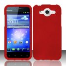 Hard Rubber Feel Plastic Case for Huawei Mercury M886 (Cricket) - Red