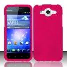 Hard Rubber Feel Plastic Case for Huawei Mercury M886 (Cricket) - Pink