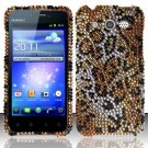 Hard Rhinestone Design Case for Huawei Mercury M886 (Cricket) - Cheetah