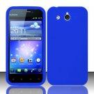 Soft Premium Silicone Case for Huawei Mercury M886 (Cricket) - Blue