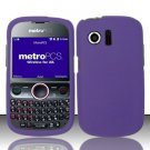 Hard Rubber Feel Plastic Case for Huawei Pillar/Pinnacle - Purple