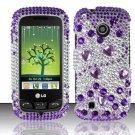 Hard Rhinestone Design Case for LG Cosmos Touch VN270 (Verizon) - Purple Gems