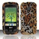 Hard Rhinestone Design Case for LG Beacon/Attune (MetroPCS/U.S. Cellular) - Cheetah