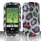 Hard Rhinestone Design Case for LG Beacon/Attune (MetroPCS/U.S. Cellular) - Colorful Leopard