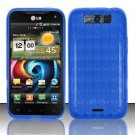 TPU Crystal Gel Case for LG Viper 4G LTE/Connect 4G (Sprint/MetroPCS) - Blue