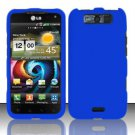 Hard Rubber Feel Plastic Case for LG Viper 4G LTE/Connect 4G (Sprint/MetroPCS) - Blue