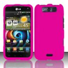 Hard Rubber Feel Plastic Case for LG Viper 4G LTE/Connect 4G (Sprint/MetroPCS) - Pink