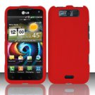 Hard Rubber Feel Plastic Case for LG Viper 4G LTE/Connect 4G (Sprint/MetroPCS) - Red