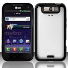 Hybrid TPU/Plastic Transparent Case for LG Viper 4G LTE/Connect 4G (Sprint/MetroPCS) - Black