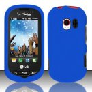 Hard Rubber Feel Plastic Case for LG Extrovert VN271 (Verizon) - Blue