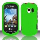 Hard Rubber Feel Plastic Case for LG Extrovert VN271 (Verizon) - Green