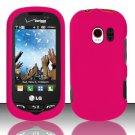 Hard Rubber Feel Plastic Case for LG Extrovert VN271 (Verizon) - Pink
