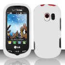 Hard Rubber Feel Plastic Case for LG Extrovert VN271 (Verizon) - White