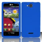 Soft Premium Silicone Case for LG Lucid VS840 (Verizon) - Blue
