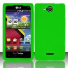 Soft Premium Silicone Case for LG Lucid VS840 (Verizon) - Green
