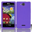 Soft Premium Silicone Case for LG Lucid VS840 (Verizon) - Purple