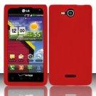 Soft Premium Silicone Case for LG Lucid VS840 (Verizon) - Red