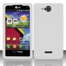 Soft Premium Silicone Case for LG Lucid VS840 (Verizon) - White