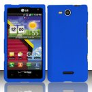 Hard Rubber Feel Plastic Case for LG Lucid VS840 (Verizon) - Blue