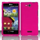 Hard Rubber Feel Plastic Case for LG Lucid VS840 (Verizon) - Pink