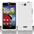 Hard Rubber Feel Plastic Case for LG Lucid VS840 (Verizon) - White