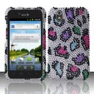 Hard Rhinestone Design Case for LG Marquee LS855/Optimus Black (Sprint/Boost) - Colorful Leopard