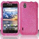 Hard Rhinestone Design Case for LG Marquee LS855/Optimus Black (Sprint/Boost) - Pink