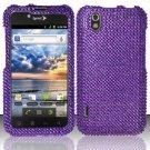 Hard Rhinestone Design Case for LG Marquee LS855/Optimus Black (Sprint/Boost) - Purple