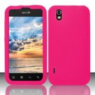 Soft Premium Silicone Case for LG Marquee LS855/Optimus Black (Sprint/Boost) - Pink