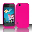 Soft Premium Silicone Case for LG myTouch LU9400 (T-Mobile) - Pink