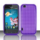 TPU Crystal Gel Case for LG myTouch LU9400 (T-Mobile) - Purple