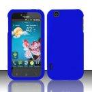 Hard Rubber Feel Plastic Case for LG myTouch LU9400 (T-Mobile) - Blue