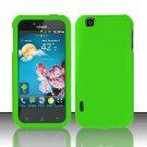 Hard Rubber Feel Plastic Case for LG myTouch LU9400 (T-Mobile) - Green