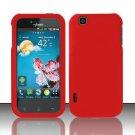 Hard Rubber Feel Plastic Case for LG myTouch LU9400 (T-Mobile) - Red