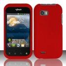 Hard Rubber Feel Plastic Case for LG myTouch Q C800 (T-Mobile) - Red