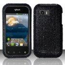 Hard Rhinestone Design Case for LG myTouch Q C800 (T-Mobile) - Black