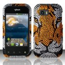 Hard Rhinestone Design Case for LG myTouch Q C800 (T-Mobile) - Tiger