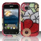 Hard Rhinestone Design Case for LG myTouch Q C800 (T-Mobile) - Fall Flowers