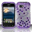 Hard Rhinestone Design Case for LG myTouch Q C800 (T-Mobile) - Purple Gems