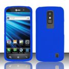 Hard Rubber Feel Plastic Case for LG Nitro HD P930/P960 (AT&T) - Blue