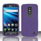 Hard Rubber Feel Plastic Case for LG Nitro HD P930/P960 (AT&T) - Purple