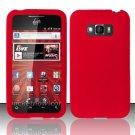 Soft Premium Silicone Case for LG Optimus Elite LS696 (Sprint) - Red