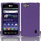 Hard Rubber Feel Plastic Case for LG Optimus M+ MS695 (MetroPCS) - Purple